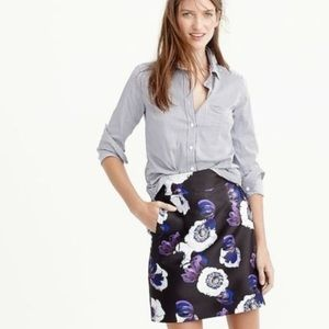 J. Crew a-line mini skirt in violet poppy (8)
